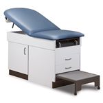 Clinton 8890 Family Practice Exam Table with Step Stool