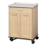 Clinton 8921-AF Fashion Finish Mobile Treatment Cabinet w/ 2 Doors & 1 Drawer