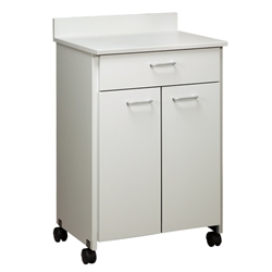 ClintonClean Mobile Treatment Cabinet with 2 Doors and 1 Drawer