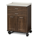 Clinton 8922-AF Fashion Finish, Molded Top, Mobile Treatment Cabinet with 2 Doors & 2 Drawers