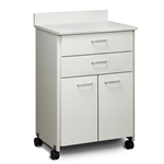 ClintonClean Mobile Treatment Cabinet with 2 Doors and 2 Drawers