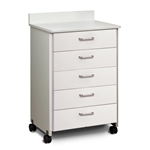 ClintonClean™ Mobile Treatment Cabinet with 5 Drawers (CCI Model)
