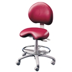 Brewer 9000BFR Dental Stool w/ Adjustable Footring