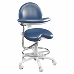 Brewer 9020B Dental Stool with Ratcheted Body Support