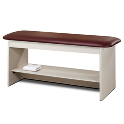 Clinton 9200 Flat Top Style Line Straight Line Treatment Table w/ Full Shelf