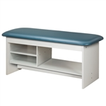 Clinton 9300 Flat Top Style Line Straight Line Treatment Table w/ Shelving