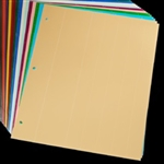 "Sklar Adhesive Color Identification Sheets, Beige, 8.5"" x 11"""