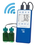 ABS-WF-DDL-18 Dual Probe Digital Data Logger w/ WiFi Transfer