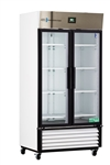 35 Cubic Foot ABS Premier Double Swing Glass Door Laboratory Refrigerator - Hydrocarbon