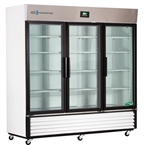 72 Cubic Foot ABS Premier Triple Swing Glass Door Laboratory Refrigerator - Hydrocarbon