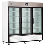 72 Cubic Foot ABS TempLog Premier Laboratory Triple Swing Glass Door Refrigerator