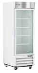 23 Cubic Foot ABS Single Swing Glass Door Laboratory Refrigerator