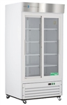 33 Cubic Foot ABS Double Sliding Glass Door Laboratory Refrigerator - Hydrocarbon