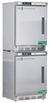 9 cubic foot ABS Premier Refrigerator & Freezer Combination Stainless Steel, Left Handed - Hydrocarbon (Medical Grade)