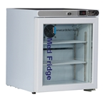 1 Cubic Foot ABS Premier Pharmacy/Vaccine Glass Door Countertop Refrigerator Freestanding