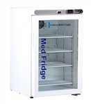 2.5 Cubic Foot ABS Premier Glass Door Undercounter Refrigerator Freestanding