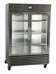 49 cu ft ABS TempLog Premier Stainless Steel Laboratory Refrigerator with Glass Door, Touch Screen - Hydrocarbon