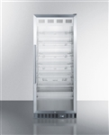 11 cu ft Glass door Pharmaceutical Storage Refrigerator (Pharmacy Grade)