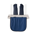 Apron and Glove Rack with Four Glove Holders