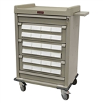 Patient Bin Cassette Medication Cart, Med Cart with 24 Locking Bins