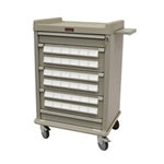 Patient Bin Cassette Medication Cart, Med Cart with 36 Locking Bins