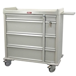 Harloff Aluminum Punch Card Medical Cart