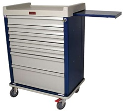 Optimal Line, Seven Drawer, Extra Wide Anesthesia Workstation