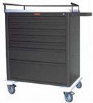 Harloff Universal Line Wide 7 Drawer Cart with Key Lock