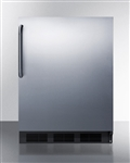 AccuCold ALB653BCSS Undercounter Refrigerator/Freezer (Stainless Steel, Black)