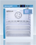 Accucold ARG1MLDL2B 1 cu ft Compact Laboratory Refrigerator w/ Glass Door & Digital Data Logger