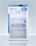 Accucold 3 cu ft Counter Height Vaccine Refrigerator w/ Glass Door & Digital Data Logger