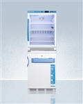 AccuCold ARG6PV-VT65MLSTACKMED2 9.2 cu ft All-Refrigerator/All-Freezer Combination