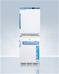 "AccuCold ARS6PV-VT65MLSTACKMED2 24"" Wide All-Refrigerator/All-Freezer Combination"