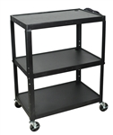 "XL 42"" Height Adjustable A/V Steel Cart"