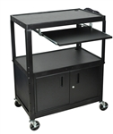 "XL  42"" Height Adjustable w/keyboard tray & cabinet"