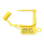 Breakaway Lock Seals, Numbered, Yellow (Qty 100)