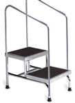 Bariatric Double Step Stool with Dual Handrails