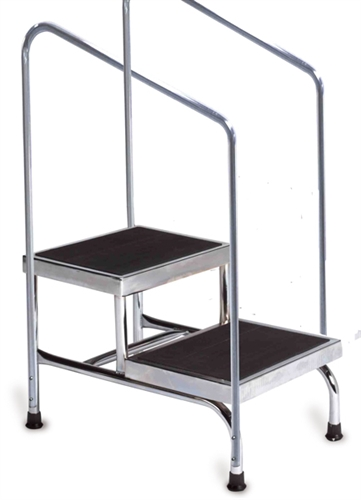 Wondrous Bariatric Double Step Stool With Dual Handrails Ibusinesslaw Wood Chair Design Ideas Ibusinesslaworg