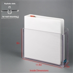 Poltex 3 Ring Binder Holder, Polycarbonate (Wall Mount)