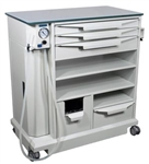 BR Surgical ENT Treatment Workstation w/ 3 Drawers & Built-In Suction Pump