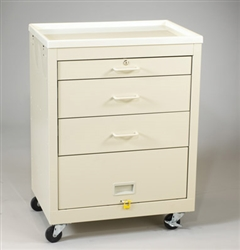 4-Drawer Cart w/ Lower Panel