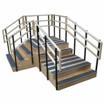 Bariatric Convertible Exercise Training Stairs
