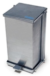 Stainless Steel Step-On Waste Receptacle