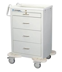 4 Drawer Medication Cart with Key Lock