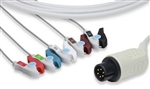 AAMI One-Piece ECG Cable - 5 Leads Clip