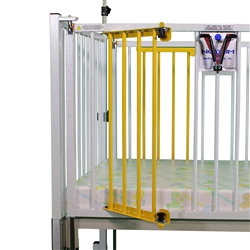 "Crib Dialysis Gate - One Side - (2) Door Same Side 1 Reg Left Side or Right Side for 72"" Crib"