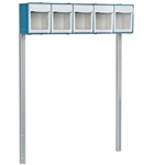 Detecto 5-Bin Organizer with Accessory Bridge for Rescue and Whisper Series Medical Carts