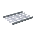 Detecto 3 Inch Drawer Divider Set for Rescue Series Medical Carts