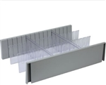 Detecto 6 Inch Drawer Divider Set for Rescue Series Medical Carts