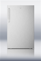 AccuCold CM411LCSS Undercounter Built-In Refrigerator/Freezer (Stainless Steel w/Lock)